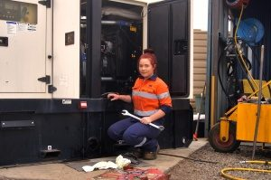 Jana follows in Dad's footsteps with diesel fitting career