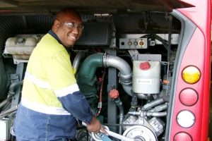 Michael moves into top gear with heavy vehicle apprenticeship