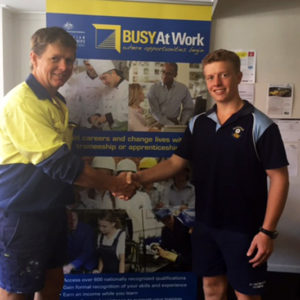 Hayden keen to continue the carpentry tradition