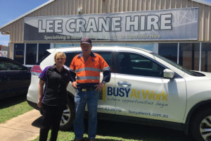 Lisa thrives in new administration role with Lee Crane Hire