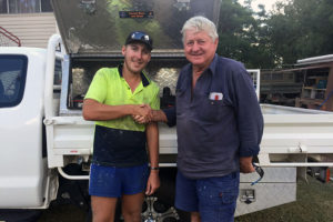 Nathan set for a big future in the building industry