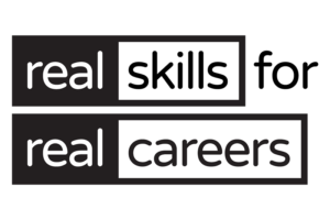 Adopt the <em>real skills for real careers</em> tagline on your communications