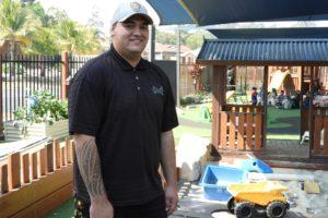 Child care graduate, Damon, has big plans