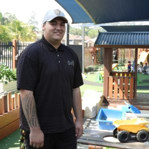 Child care graduate, Damon, has big plans